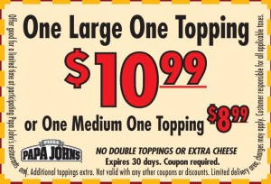 photo about Papa Johns Printable Coupons known as Papa Johns Discount coupons - Papa Johns Promo Codes